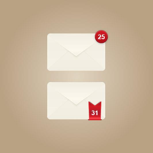 件数表示ありメールアイコン