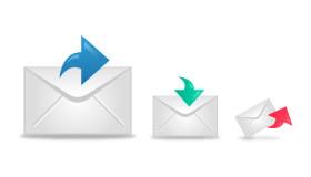立体的なメールアイコン